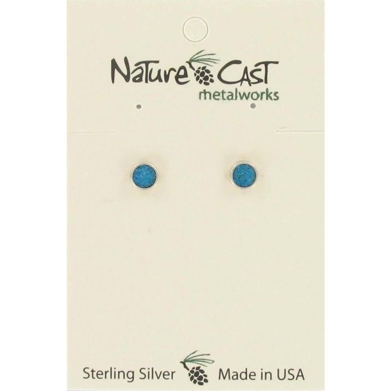 Turquoise Button Post Earring