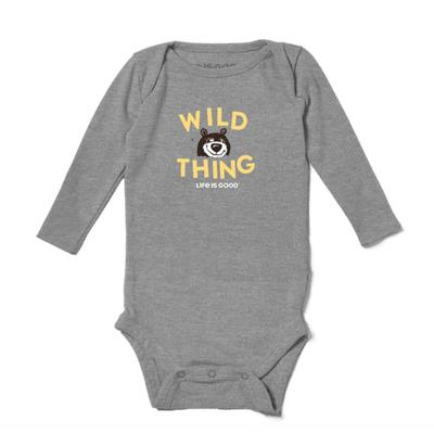 Baby Wild Thing Long Sleeve Crusher Bodysuit
