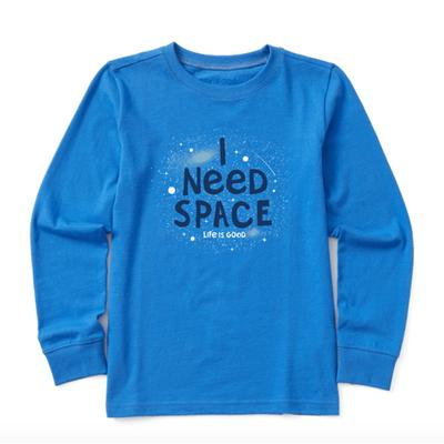 Kids I Need Space Long Sleeve Crusher Tee