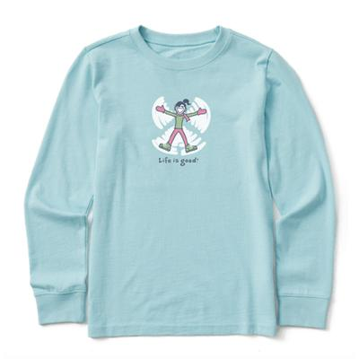 Kids Jackie Snow angel Vintage Long Sleeve Crusher Tee