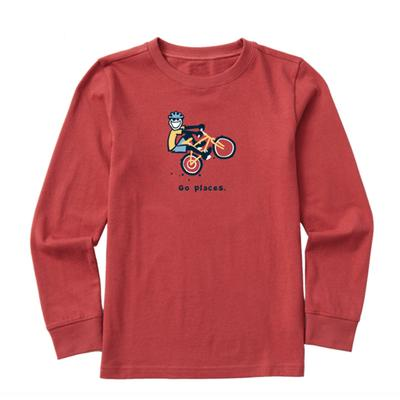 Kids Go Places Jake Vintage Long Sleeve Crusher Tee