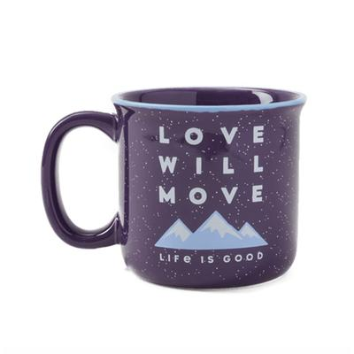 Love Will Move Mountains Happy Camper Mug
