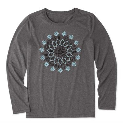 Women's Blossoming Mandala Long Sleeve Cool Tee