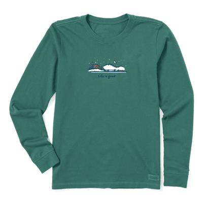 Women's Winter on the Water Long Sleeve Vintage Crusher Tee