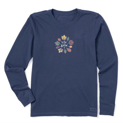 Women's Leaves Long Sleeve Vintage Crusher Tee