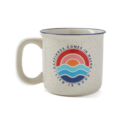 Happiness Comes in Waves Happy Camper Mug