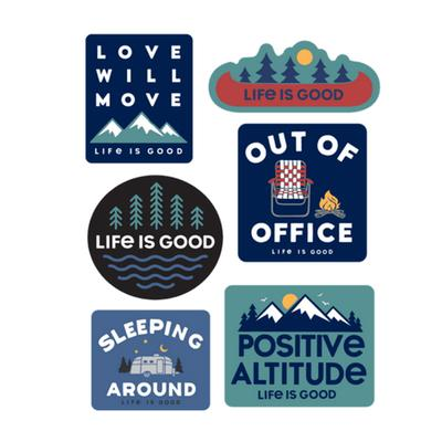 Camp Pack Six-Pack Sticker Pack