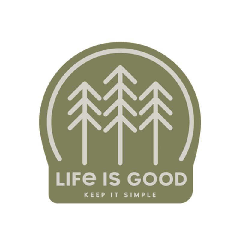 Simple Forest Small Die Cut Decal
