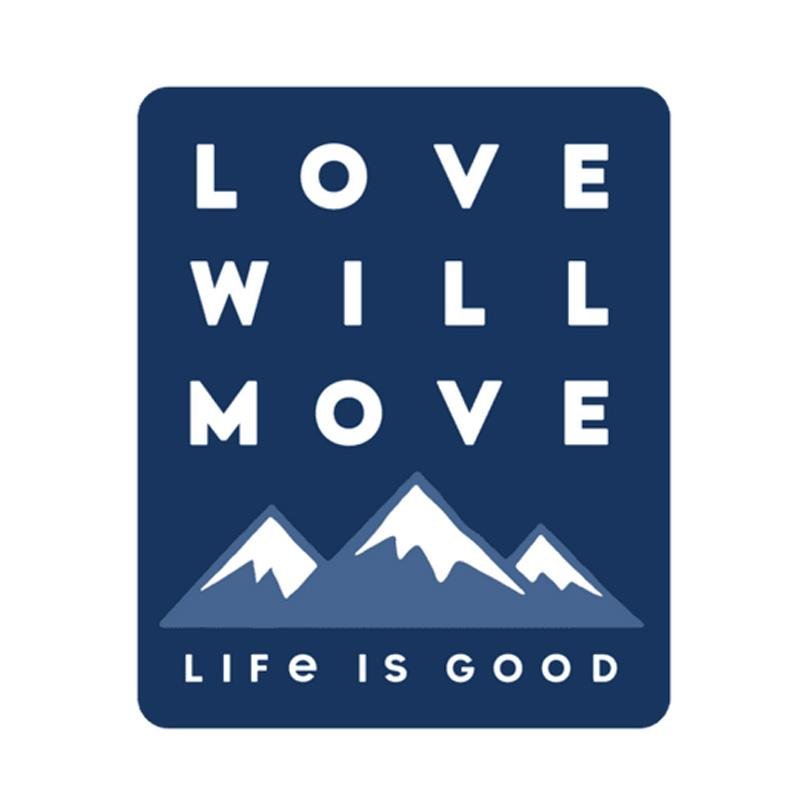 Love Will Move Mountains Small Die Cut Decal