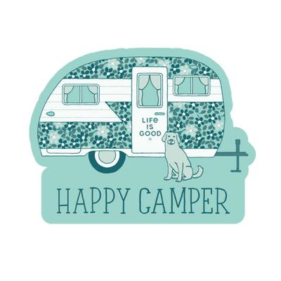 Happy Camper Die Cut Sticker