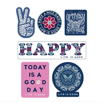 Happy Pack Six-Pack Sticker Pack