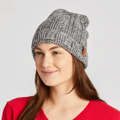 Slouchy Faux Leather Slouchy Beanie