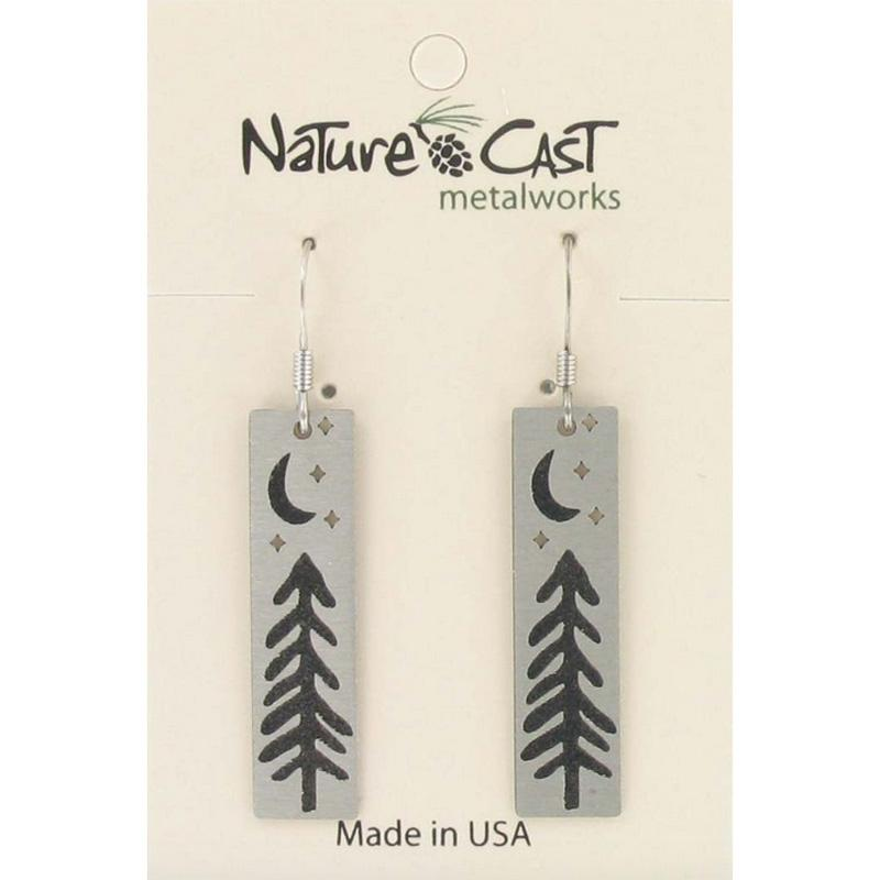 Tree With Moon And Stars Dangle Earring