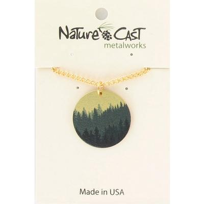 Layered Trees Pendant Necklace