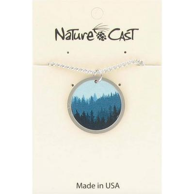 Layered Trees Silver Pendant Necklace