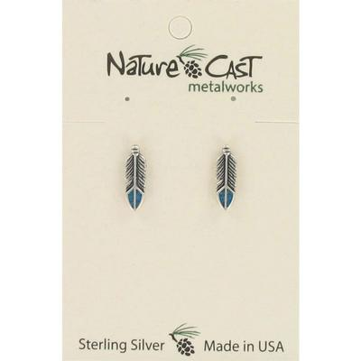 Arrow With Turquoise Inlay Post Earring