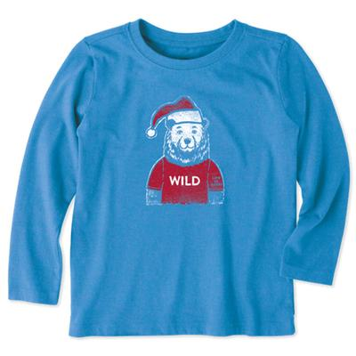 Toddler Wild Santa Bear Long Sleeve Crusher Tee