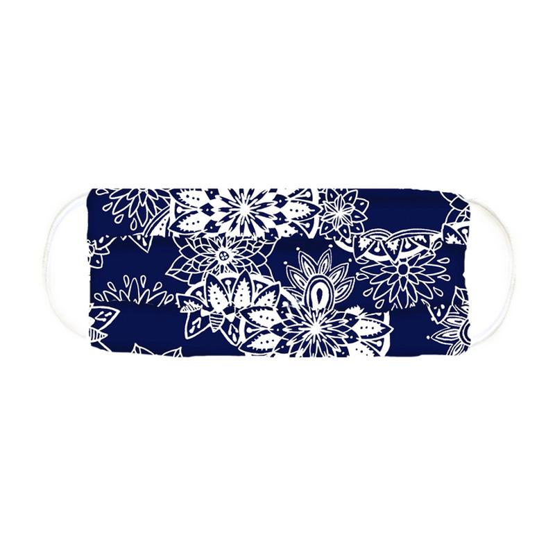 Pleated Print Face Mask