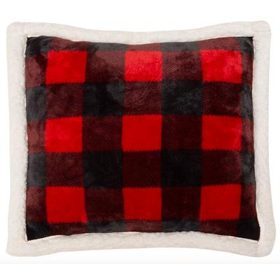 Red Lumberjack Plaid Pillow
