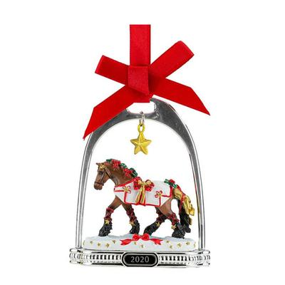 Yuletide Greetings Holiday Horse Stirrup Ornament