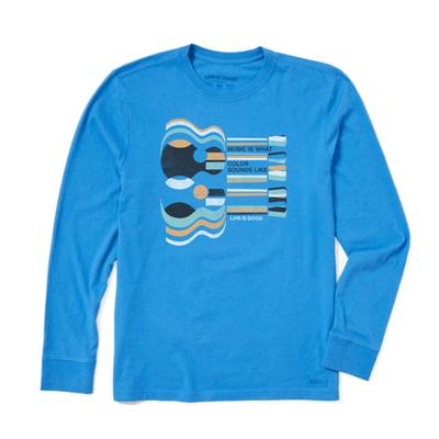 Men's Music is What Color Sounds Like Long Sleeve Crusher Tee