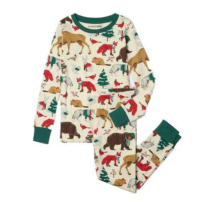 Kids Woodland Winter Pajama Set