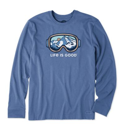 Men's Ski Goggle Landscape Long Sleeve Crusher Tee