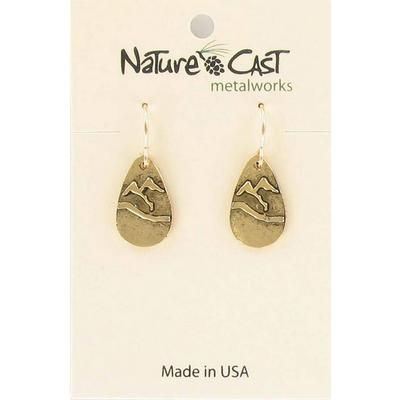 Gold Teardrop Mountain Dangle Earring