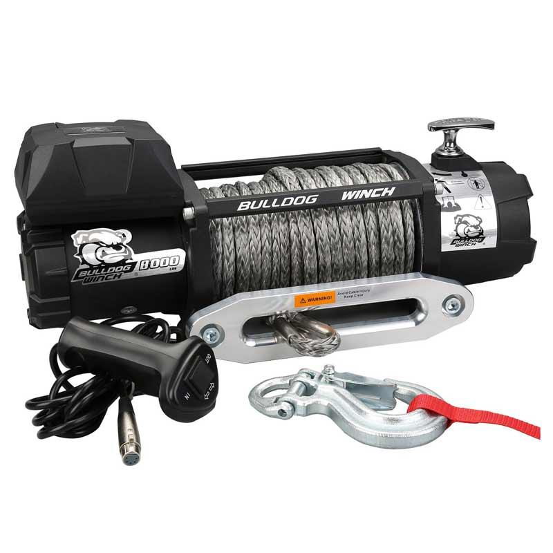 8000 Lb Winch With Synthetic Rope