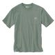 Men's Short Sleeve Relaxed Fit Heavy Weight Pocket Outdoor Back Graphic T- Shirt