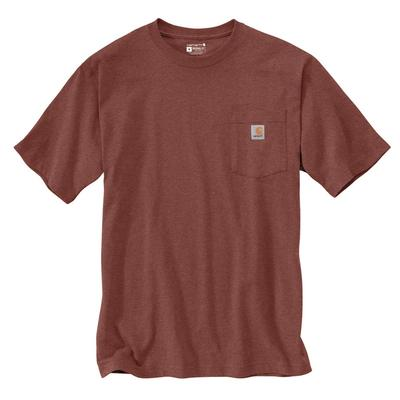 Men's Short Sleeve Loose Fit Heavy Weight Pocket Woods Back Graphic T-Shirt