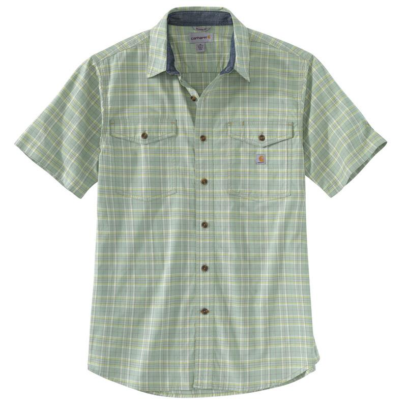 Men's Rugged Flex Relaxed Fit Light Weight Short Sleeve Plaid Shirt