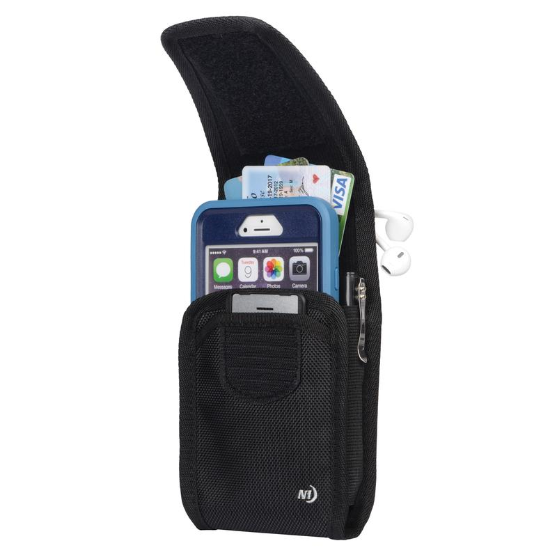 Clip Case Cargo Universal Rugged Holster - Double Wide - Black