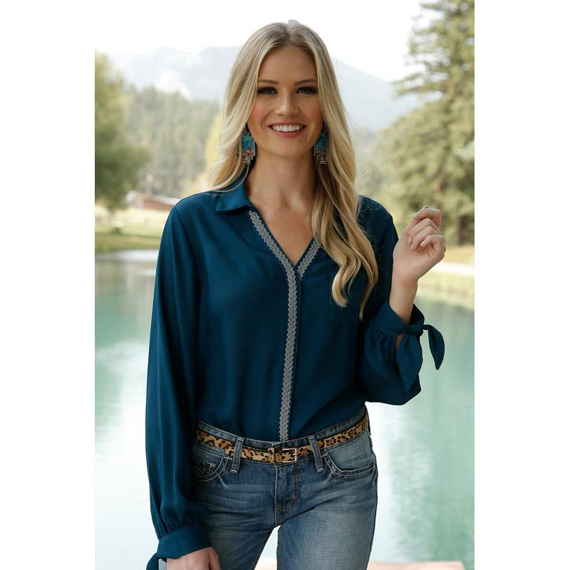 Solid Poly Georgette Blouse