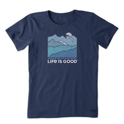 Women's Life Isn't Easy Mountains Crusher Tee