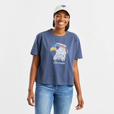 Women's Patriotic Eagle Boxy Crusher Tee