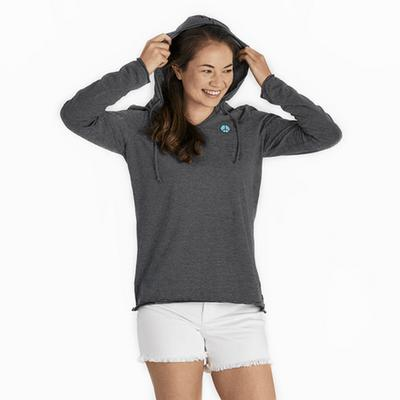 Women's Peace Long Sleeve Hooded Smooth Tee
