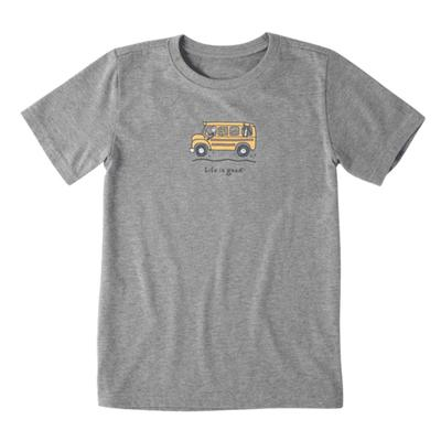 Toddler Friends School Bus Vintage Crusher Tee