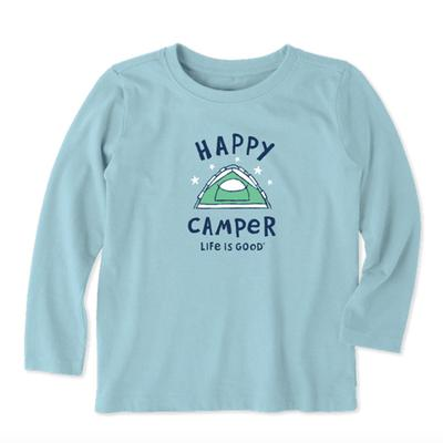 Toddler Happy Camper Long Sleeve Crusher Tee