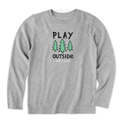 Toddler Play Outside Long Sleeve Crusher Tee