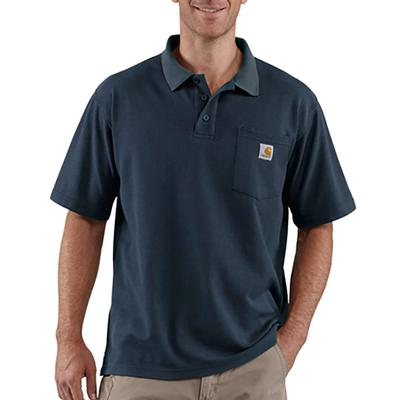 Men's Loose Fit Midweight Short Sleeve Pocket Polo