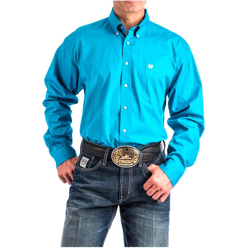 Men's Solid Pinpoint Shirt