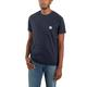 Mens ' Force Relaxed Fit Midweight Short Sleeve Pocket T- Shirt