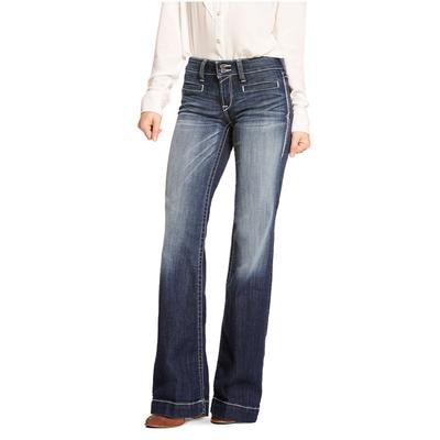 Womens Trouser Mid Rise Marine Entwined
