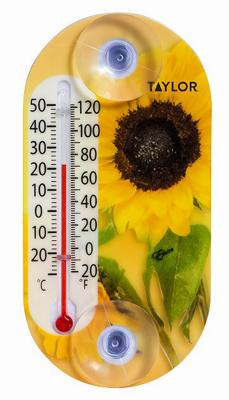 4IN THERMOMETER WITH FLOWER