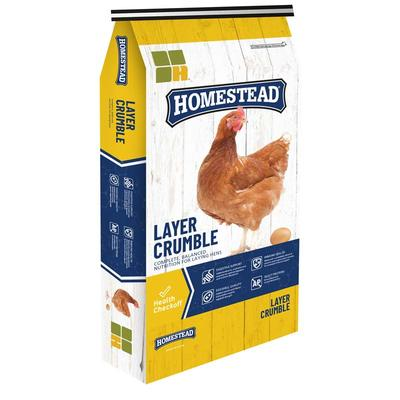 Homestead 16% Complete Layer Feed Crumble