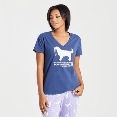 Women's Be The Person Retriever Snuggle Up Relaxed Sleep Vee