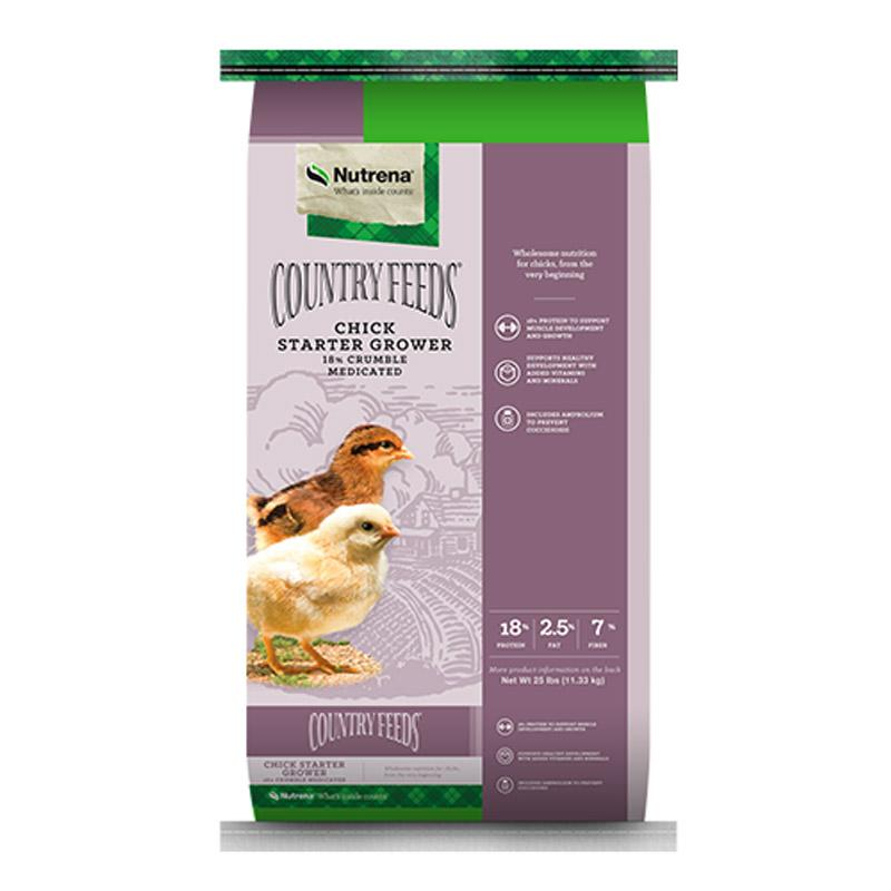 Country Feeds Medicated Chick Starter