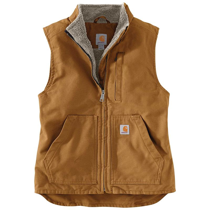 Women's Relaxed Fit Washed Duck Sherpa Lined Vest