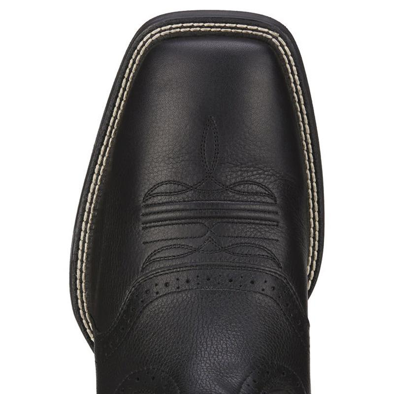 Mens Sport Wide Square Toe Western Boot